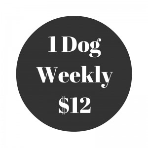 One Dog Scoop Poop Weekly