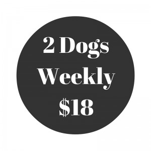 Two Dogs Scoop Poop Weekly